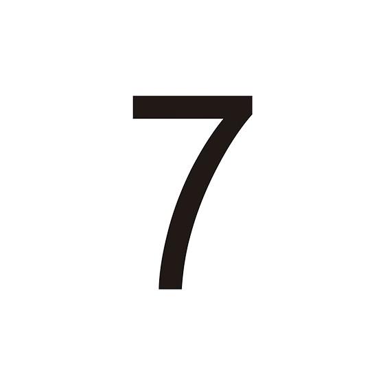 VINILO Nº 7 PARA CONO (MEDIDA 7,70 X 12,50 CM) NEGRO