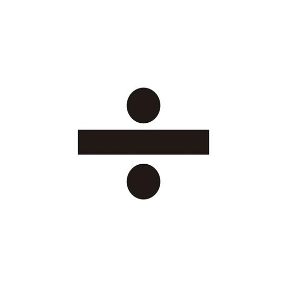 VINILO DIVISION PARA CONO (MEDIDA 11,40 X 9,70 CM) NEGRO