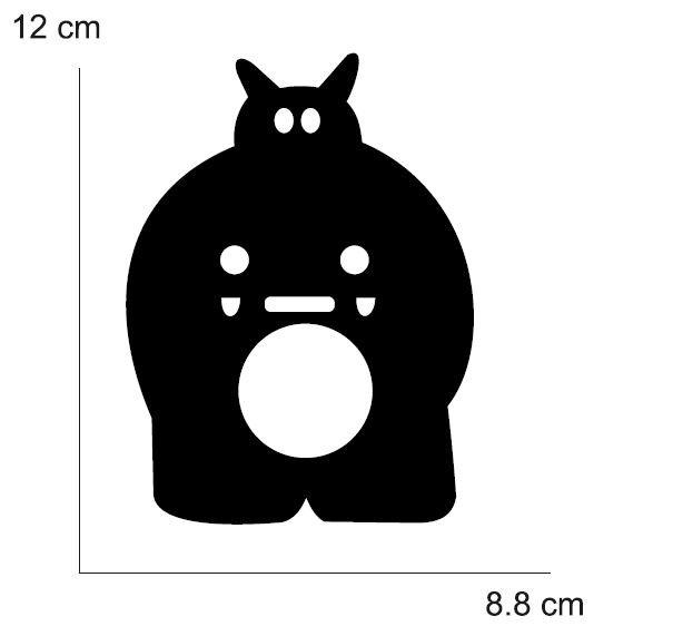 VINILO HIPOPOTAMO PARA CONO (MEDIDA 12 X 8,80 CM) NEGRO