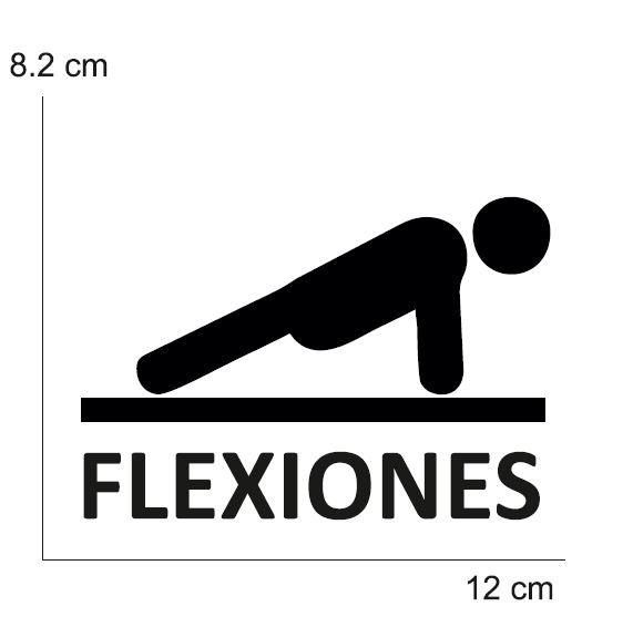 VINILO TRAINING FLEXIONES PARA CONO (MEDIDA 8,20 X 12 CM) NEGRO