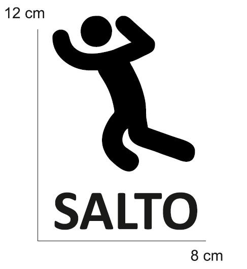 VINILO TRAINING SALTO PARA CONO (MEDIDA 12 X 8 CM) NEGRO