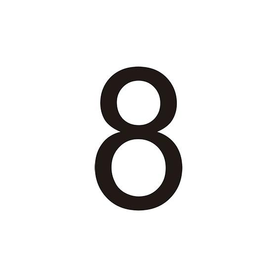 VINILO Nº 8 PARA CONO (MEDIDA 7,80 X 12,90 CM) BLANCO