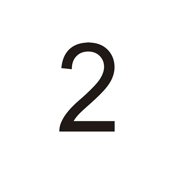 VINILO Nº 2 PARA CONO (MEDIDA 7,90 X 12,70 CM) BLANCO
