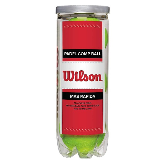 BOTE 3 PELOTAS WILSON PADEL COMP BALL